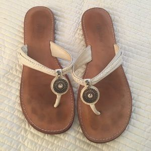 Brighton leather thong sandals, size 8.5
